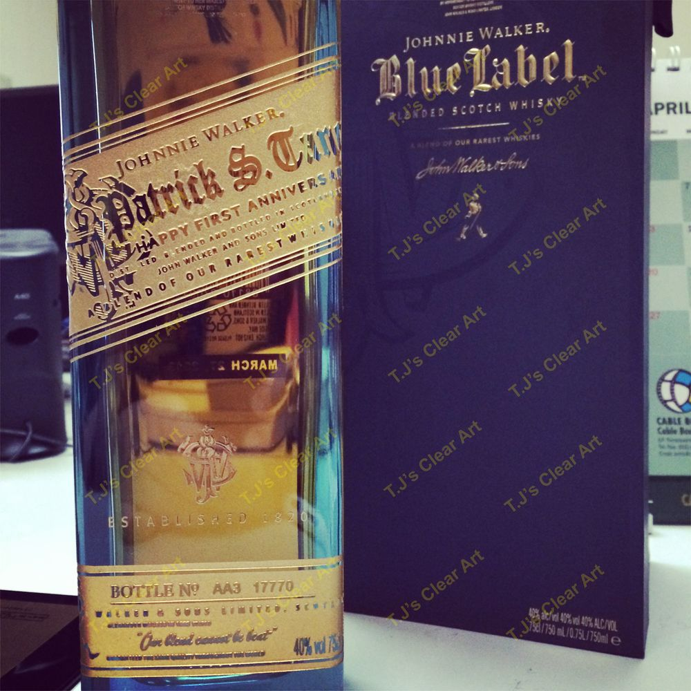 Customized Blue Label Bottle