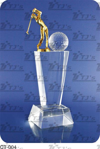 Golf Trophy - Crystal