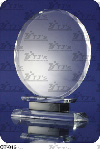 Circle Crystal Plaque