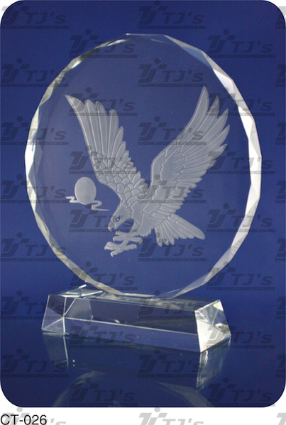 Circle Crystal Trophy/Plaque
