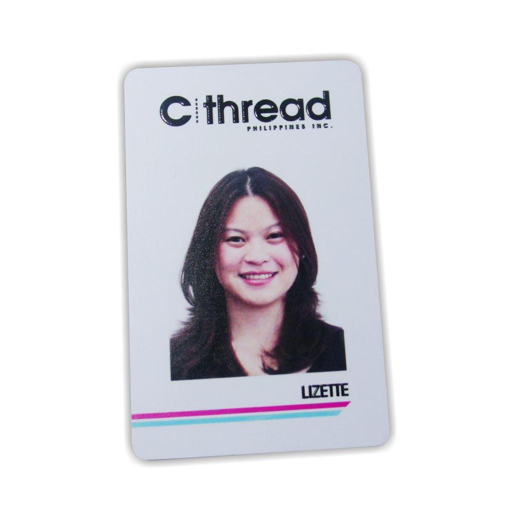UV Printed PVC ID with Embossed Print