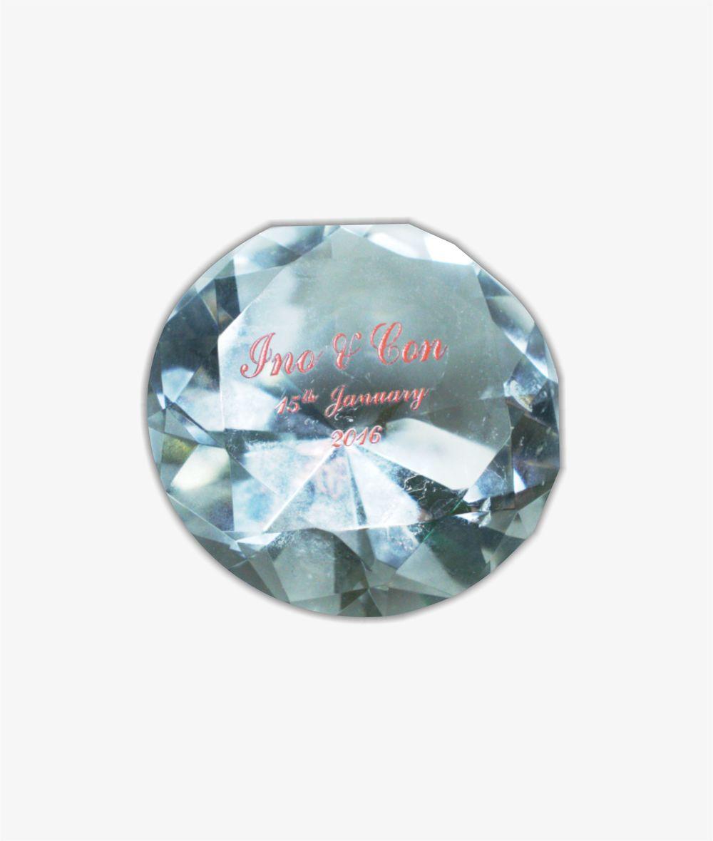 Crystal Paperweight Wedding Souvenir