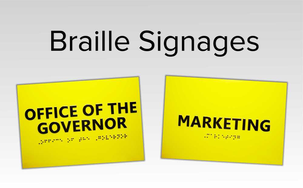 Braille Signage Supplier