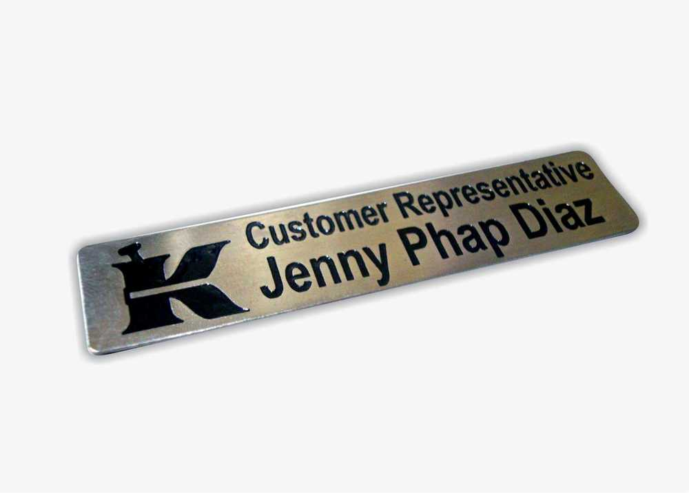 customized stainless nameplate