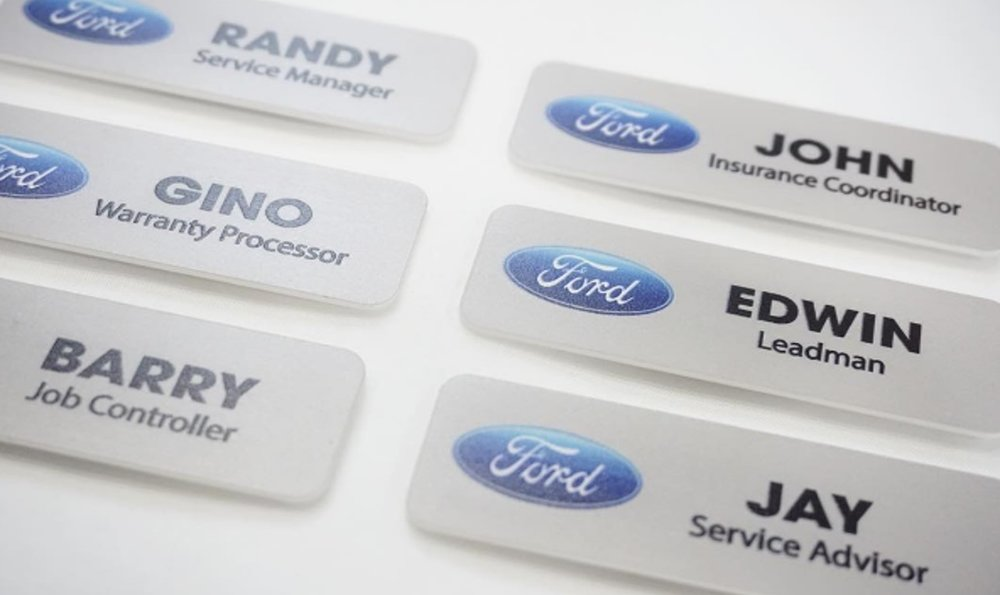 New Nameplates and Name Tags — TJ's Clear Art RN05
