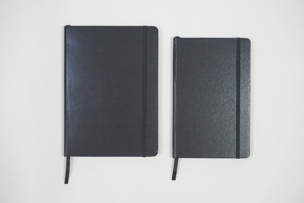 Customized Personalized Moleskine Type Leather Notebook