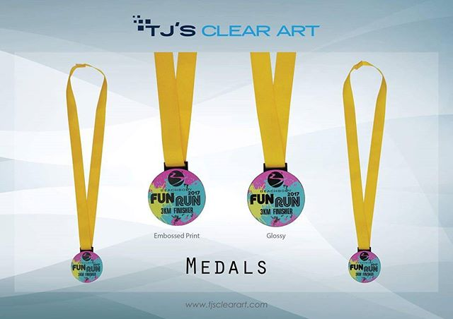 Acrylic Medals w/ Embossed print and Glossy print #tjsclearart