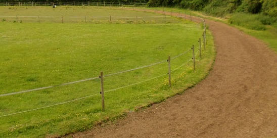 2 furlong circular canter track