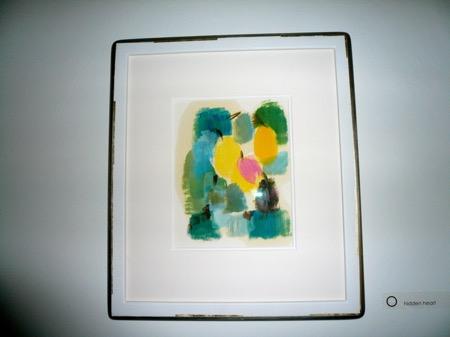 hidden heart - my very first card oil on paper