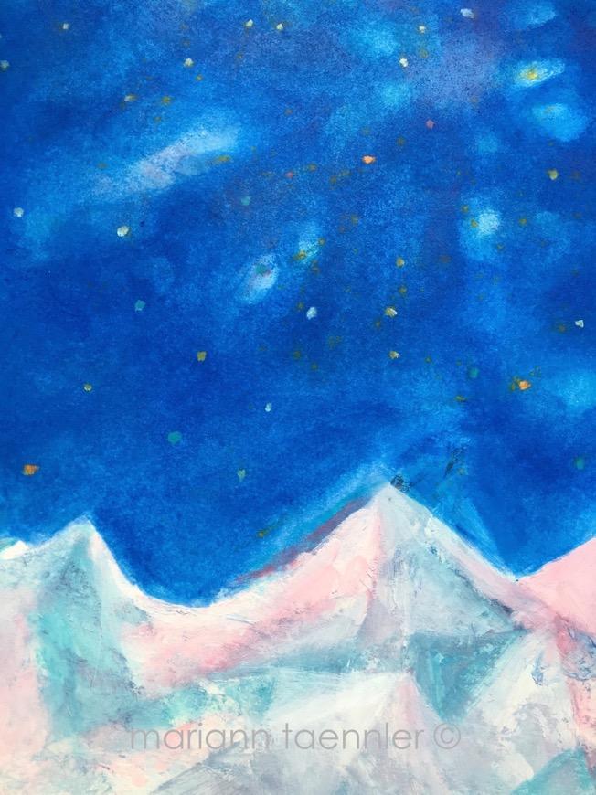 blue stars for sternschnuppe