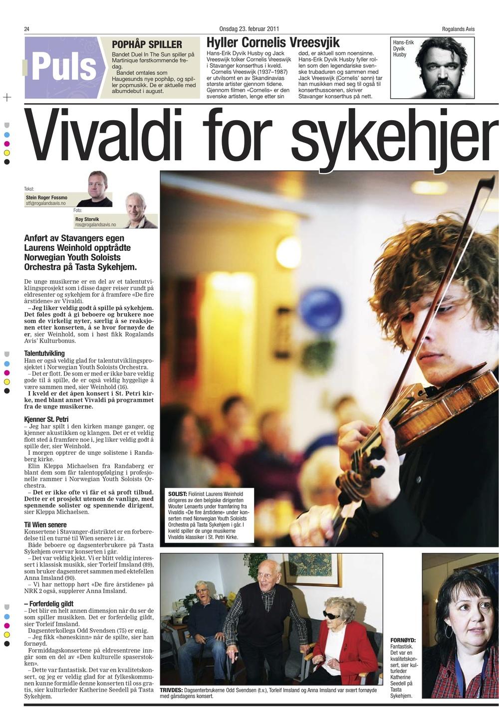 Rogalands Avis, February 23rd 2011