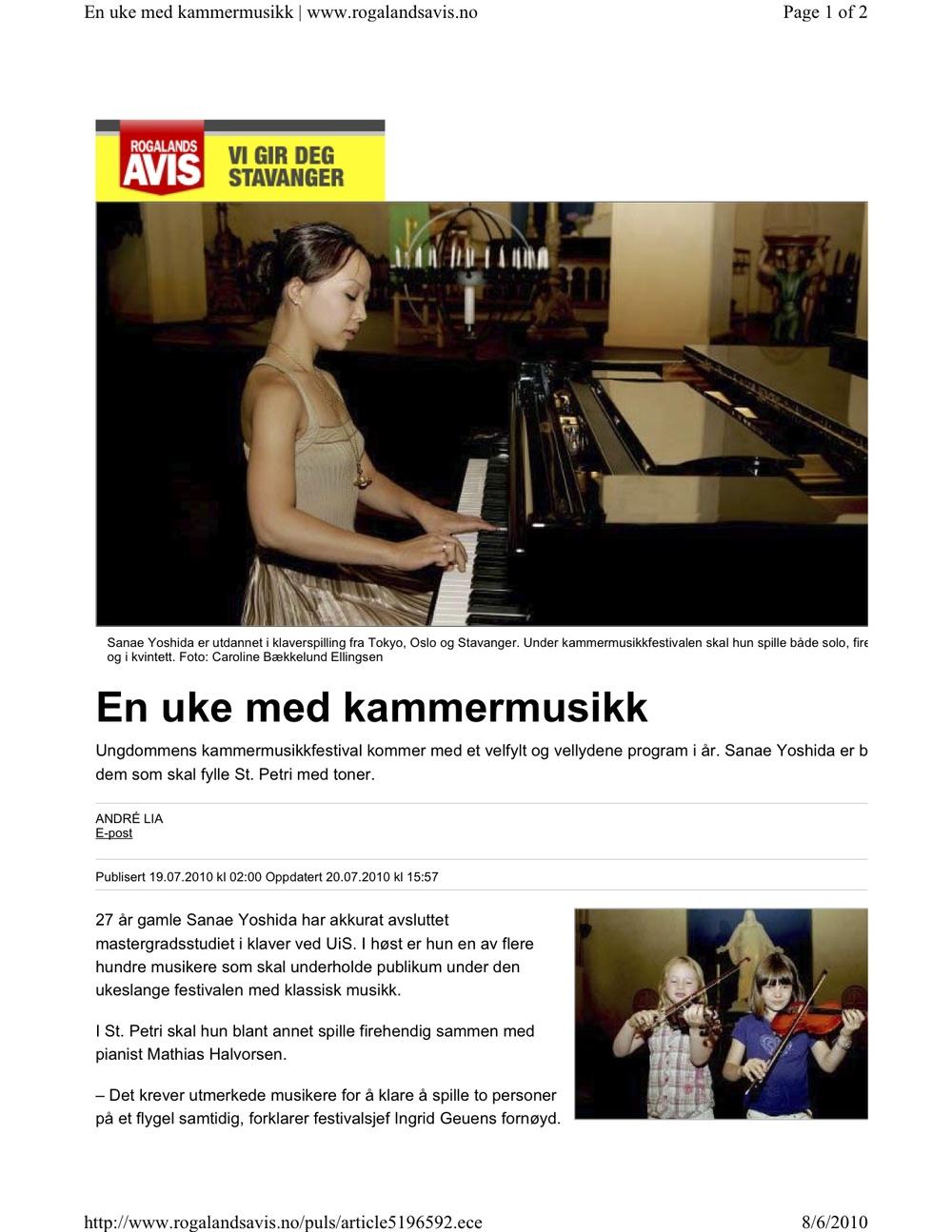 Rogaland AVIS -6. August 2010