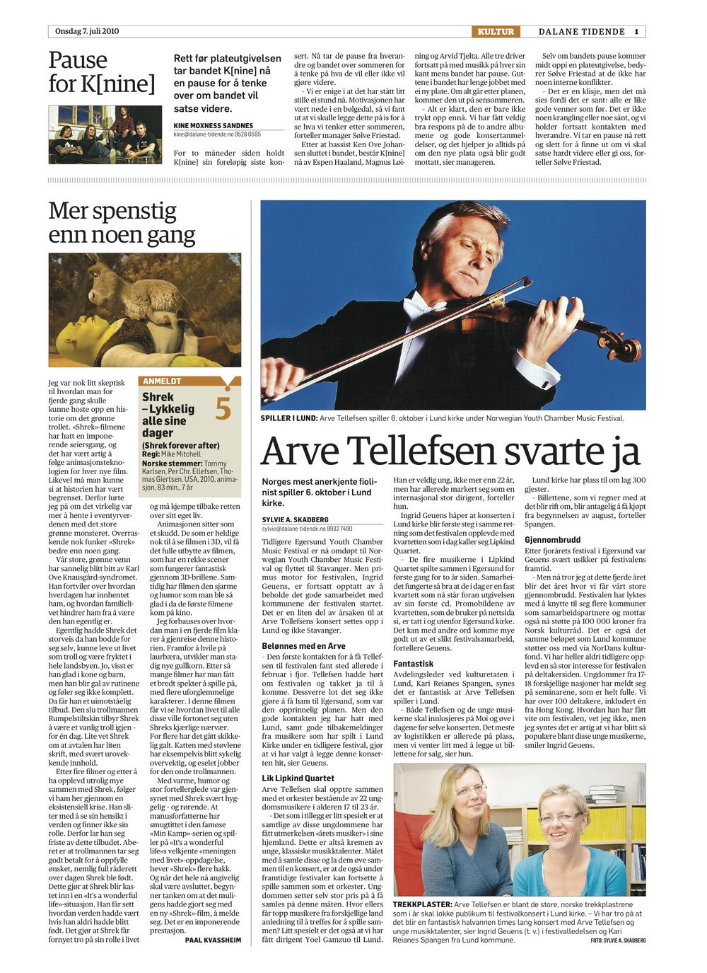 Dalane Tidende - 7. July 2010