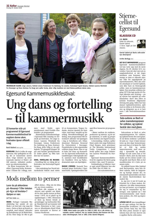 Stavanger Aftenblad - 29. October 2008