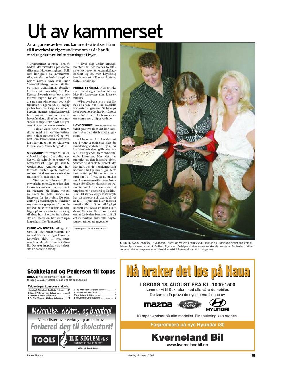 Dalane Tidende - 15. August 2007