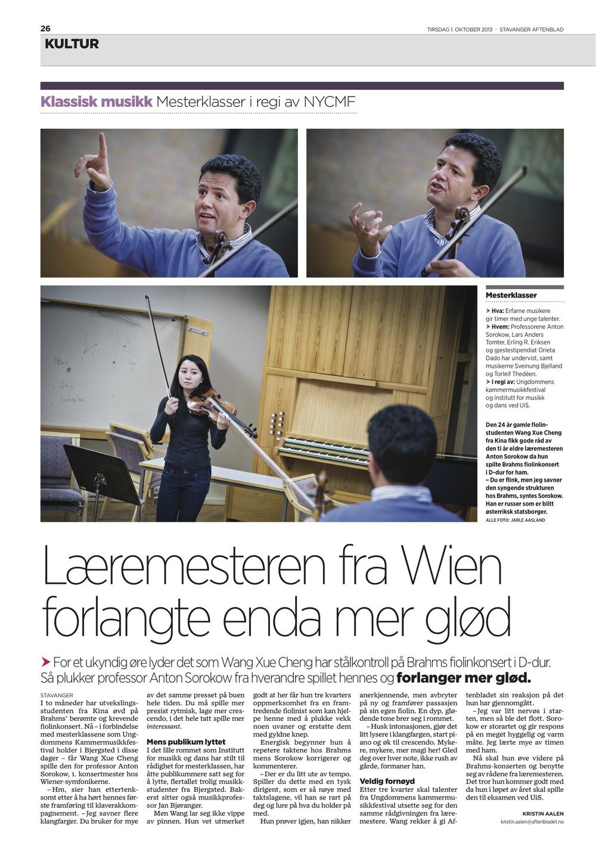 Stavanger Aftenblad - 1. October 2013