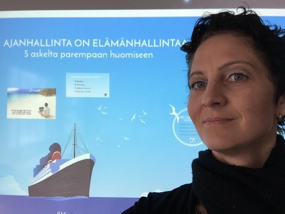 Tässä TYKY-päivillä Järvenpäässä pitämässä luentoa Ajanhallinta on elämänhallintaa.