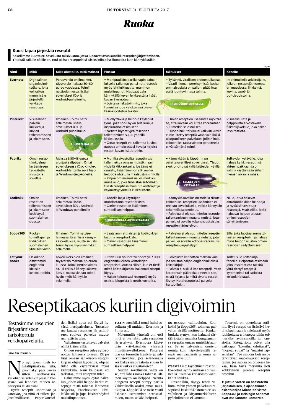 Helsingin Sanomat, Minna Koivisto