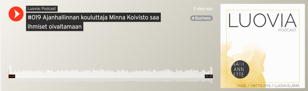 Podcast, Minna Koivisto