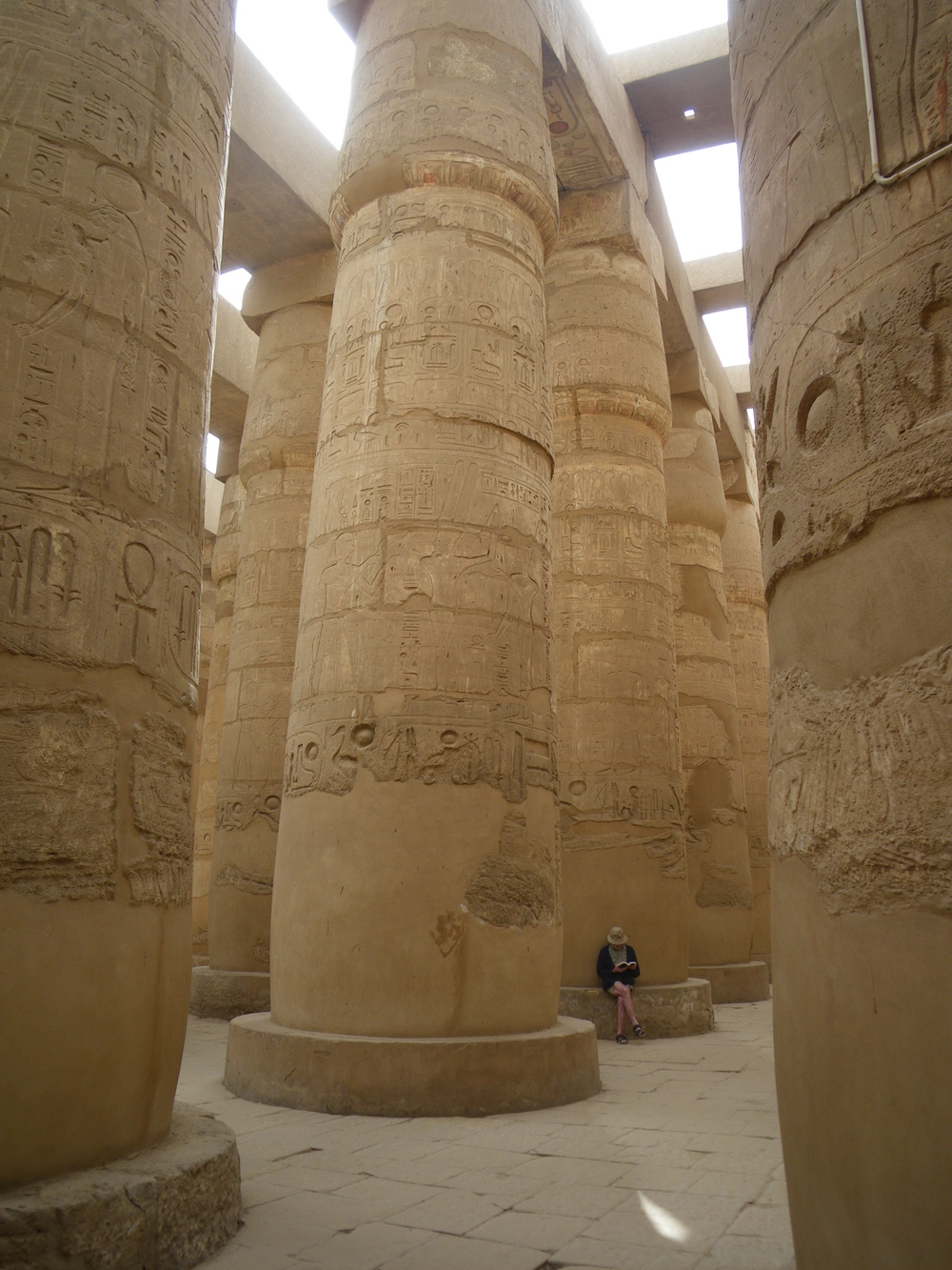 Dr. Lloyd Dickie in the Hypostyle Hall of the Temple of Karnak, Luxor, Egypt.