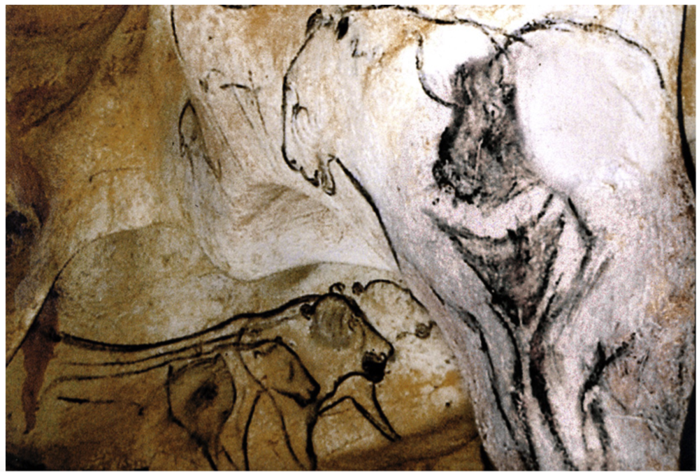 "Figure 1. ""The Venus and the Sorcerer"" from Chauvet Cave ca. 34,000 BCE proposed to represent the Summer Triangle, Collins (2014)."