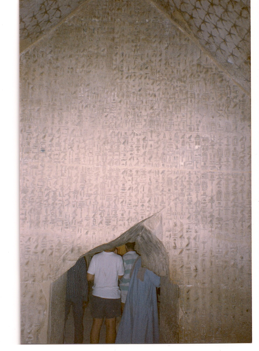 Figure 2.2. Hieroglyphic texts from the tomb chamber in the Fifth Dynasty Pyramid of Unis, showing the neatness and care exercised in their preparation.