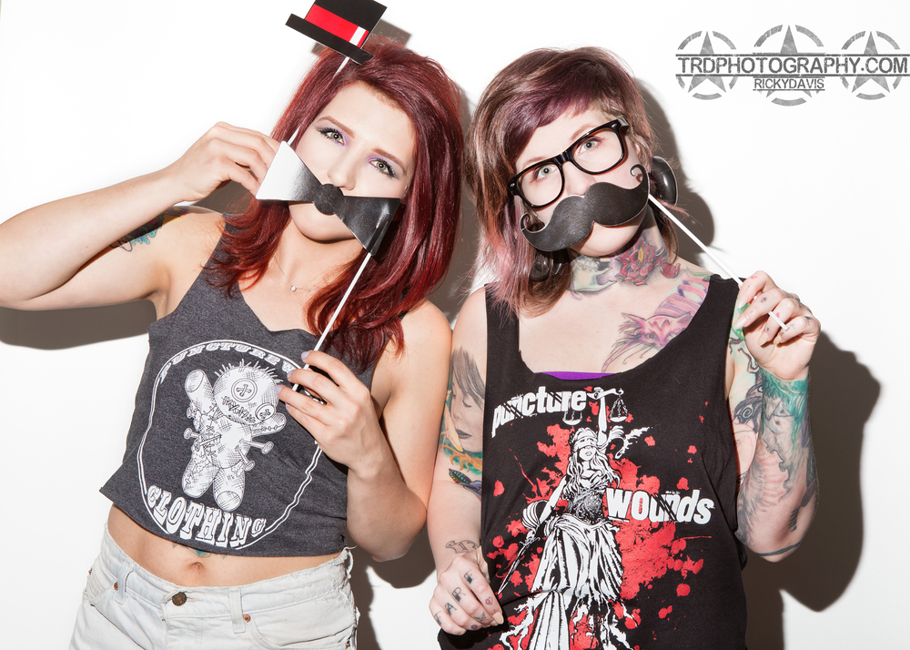 Model Alexys Graves and Tattoo Artist Kitty Konniption - Photo - TRD Photography - Shires by Puncture Wounds Clothing