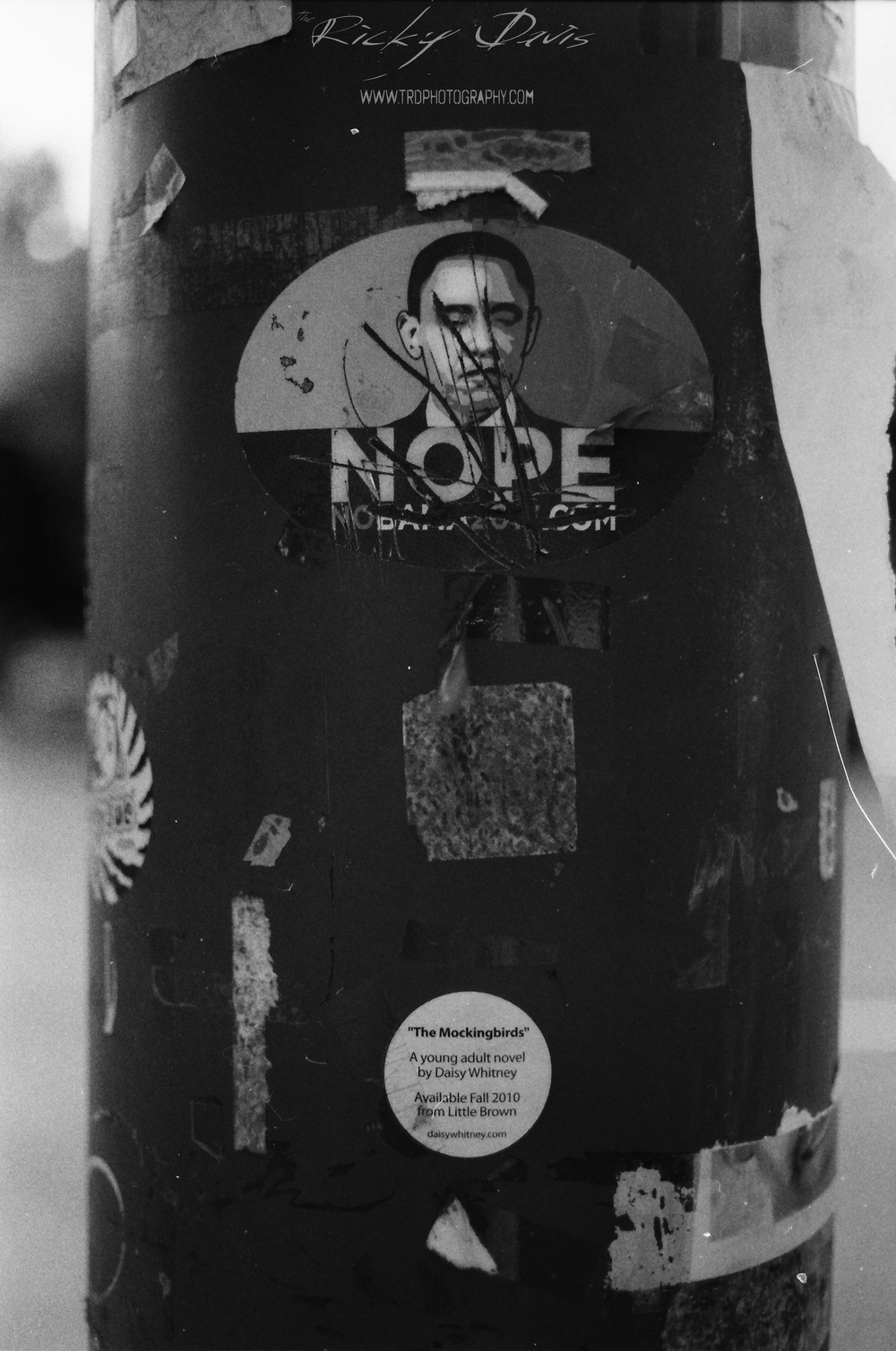 """Nope"" Lightpole in Chattanooga, TN - Film - Expired Neopan SS - Camera - Minolta XG 1 - Photographer Ricky Davis"