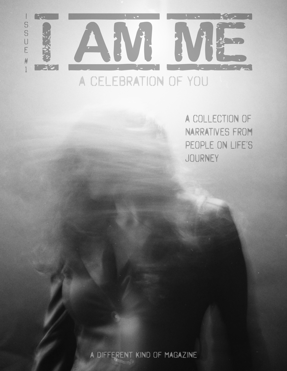 Cover of the debut I Am Me magazine - Monique Taylor - Film Photo by photographer Ricky Davis of TRD Photography