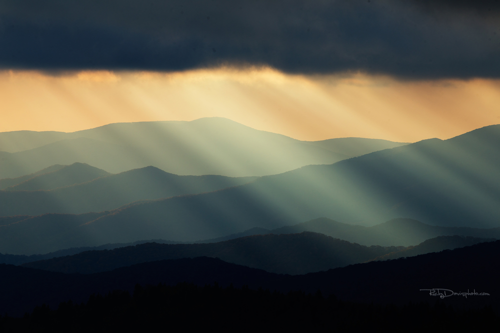 """Fire in the Sky"" Clingman's Dome - Photo by Ricky Davis of TRD Photography"