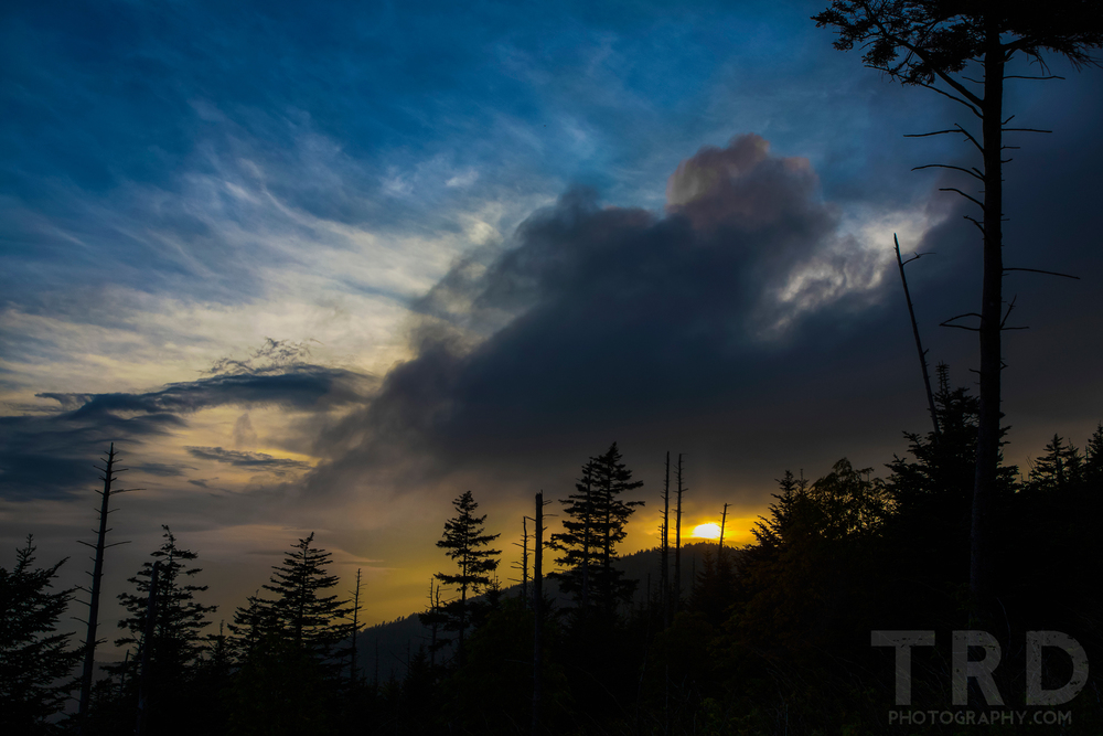 Sunset on the way to the top of Clingman's Dome. Travel Photography - TRD Photography