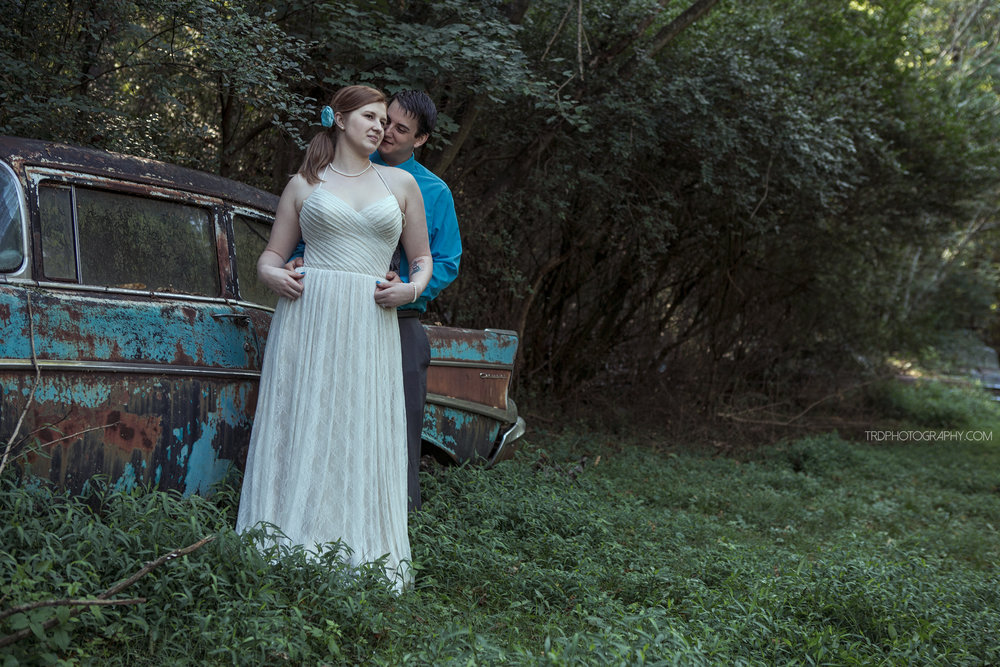 Old Car City USA - Wedding Portraits - Chattanooga Wedding Photographer
