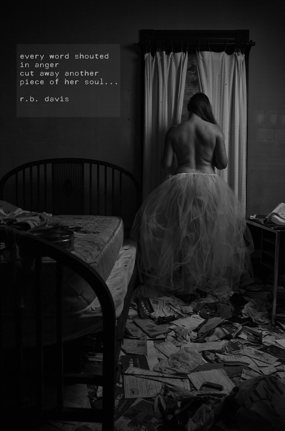 """Excerpt from """"Of Women & Monsters"""" R.B. Davis - Model Liz Hattaway = TRD Photography"""