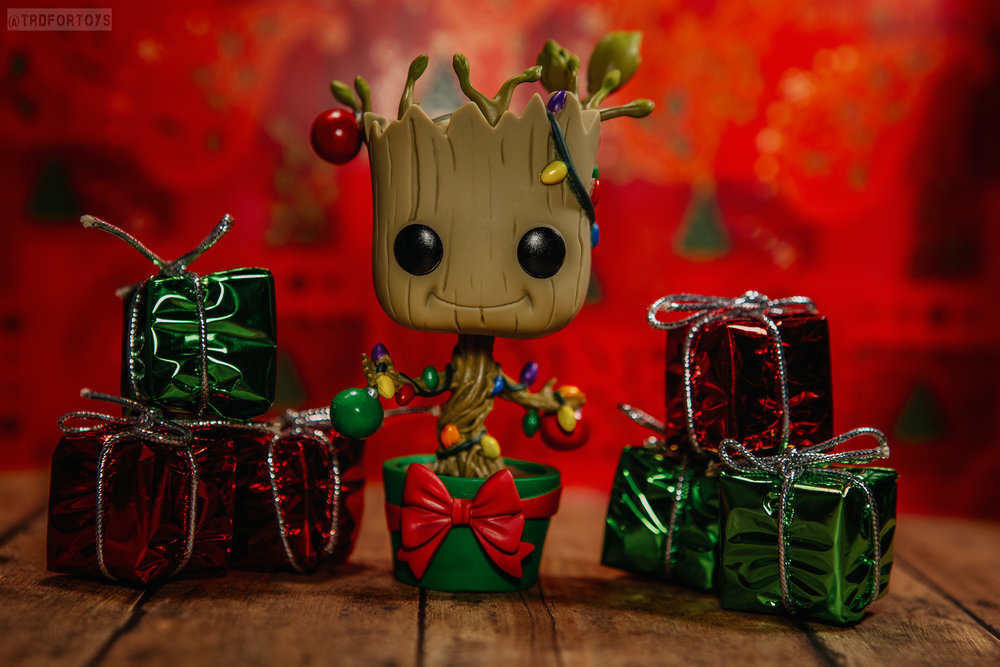 TRD Photography - TRD for Toys - Toy Photography - Holiday Baby Groot