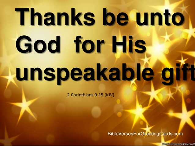 2 corinthians 915 jesus the indescribable gift tell the lord 2 corinthians 915 jesus the indescribable gift negle Images