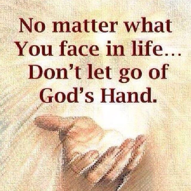 Romans 8:35 Hold On To God's Unchanging Hands — Tell the