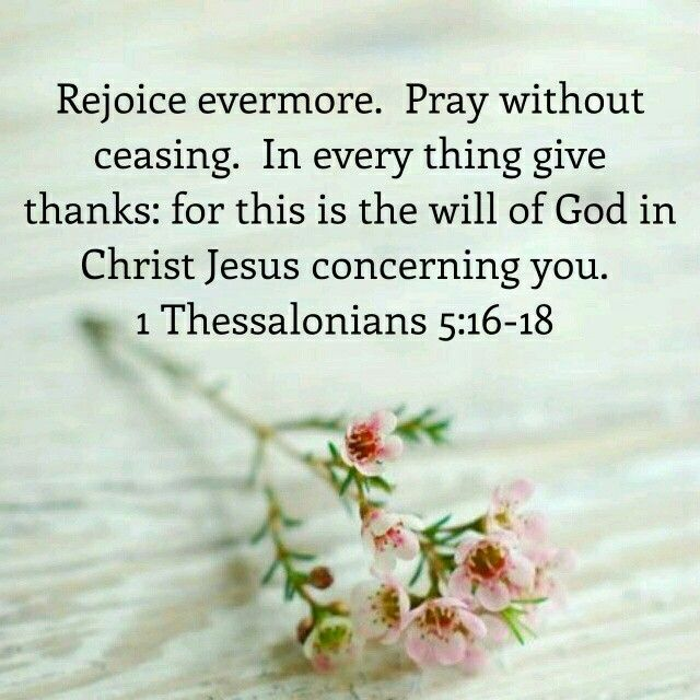 giving thanks to god for everything