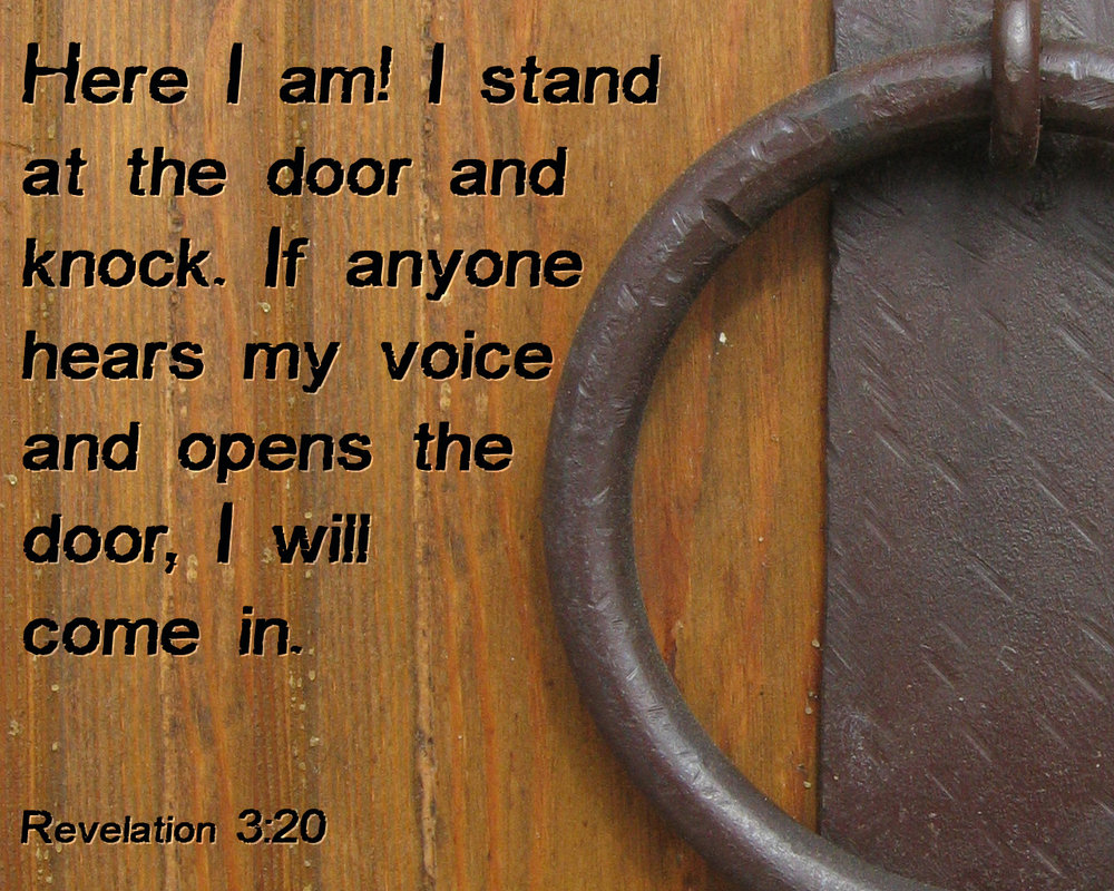 Revelation 3 20 Jesus Is Knocking At The Door Tell The Lord Thank You