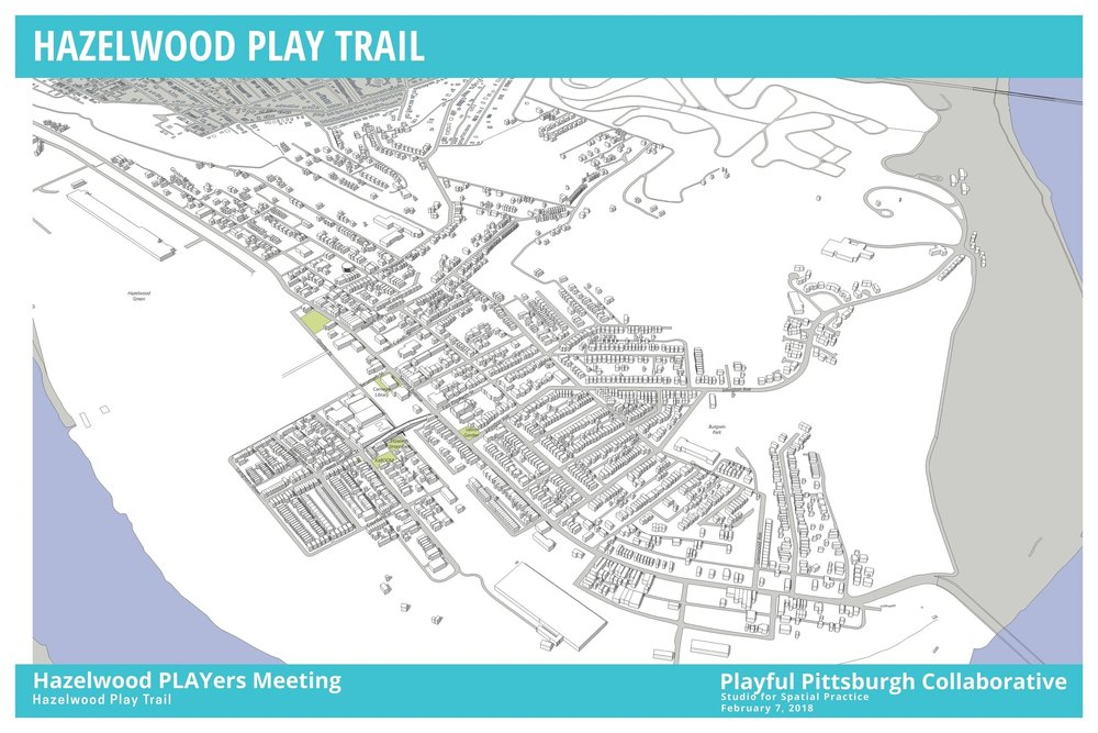Hazelwood Play Trail stops as concept. Image courtesy of Studio for Spatial Practice