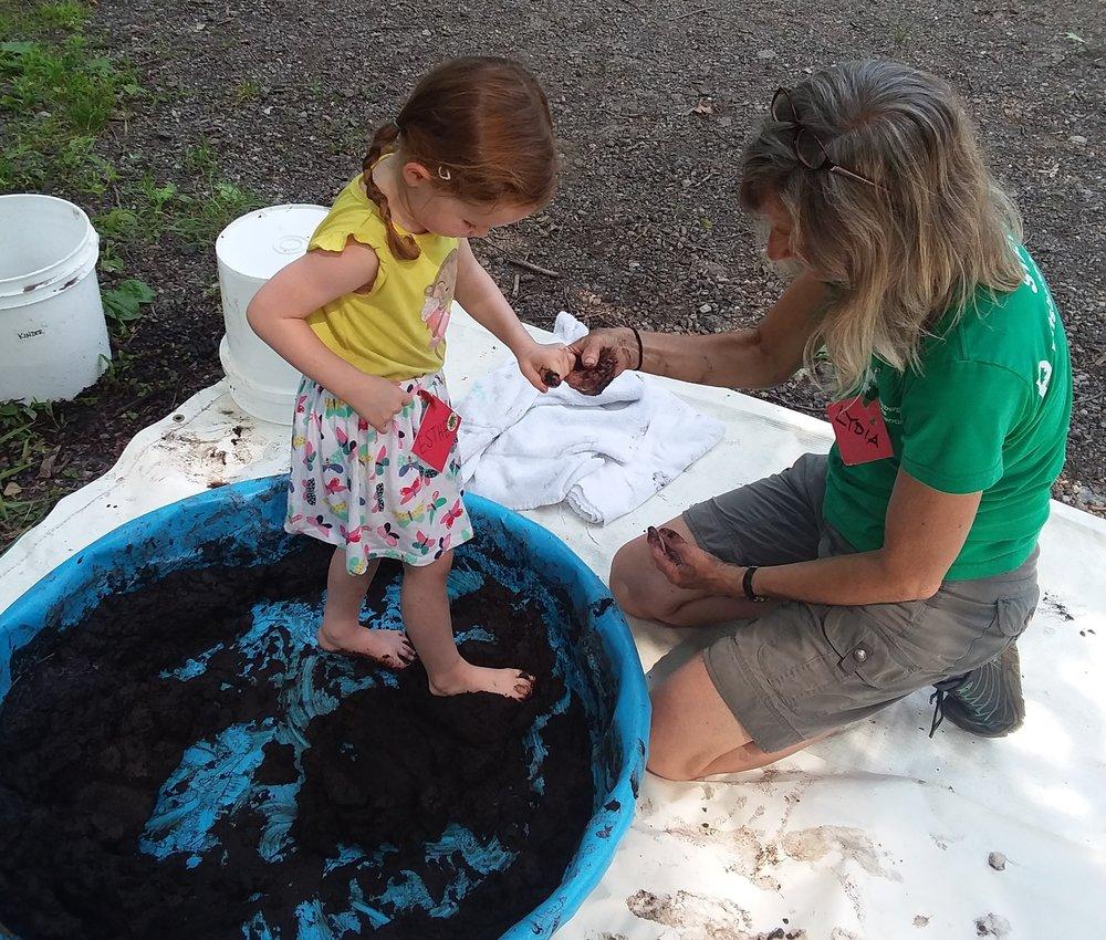 Mud is cool underfoot