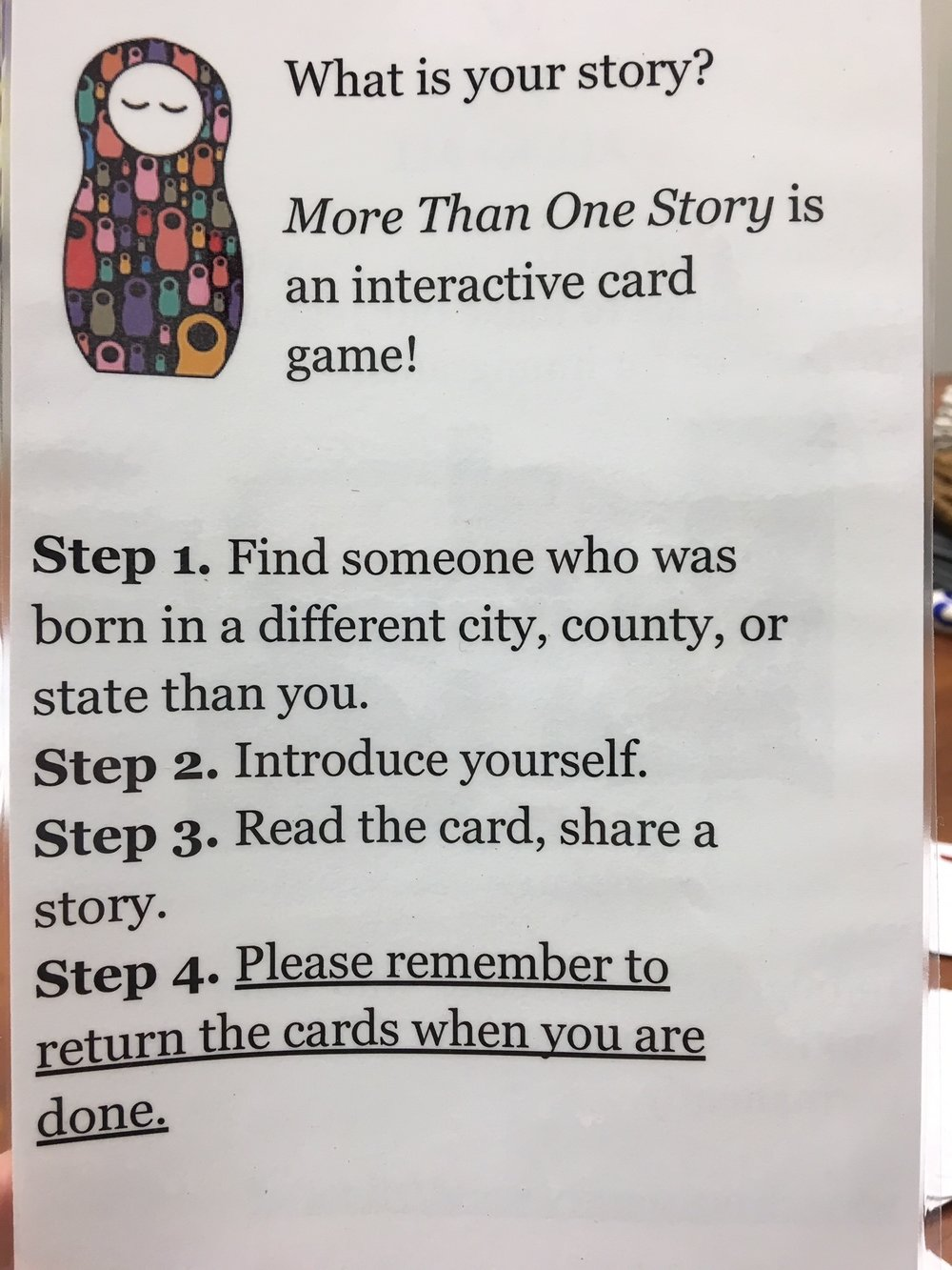 All for All card game description