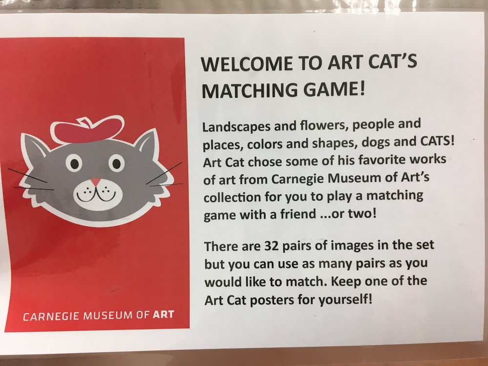 Carnegie Museum of Art matching game description