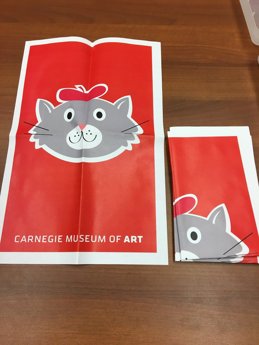 Carnegie Museum of Art Art Cat posters for distribution