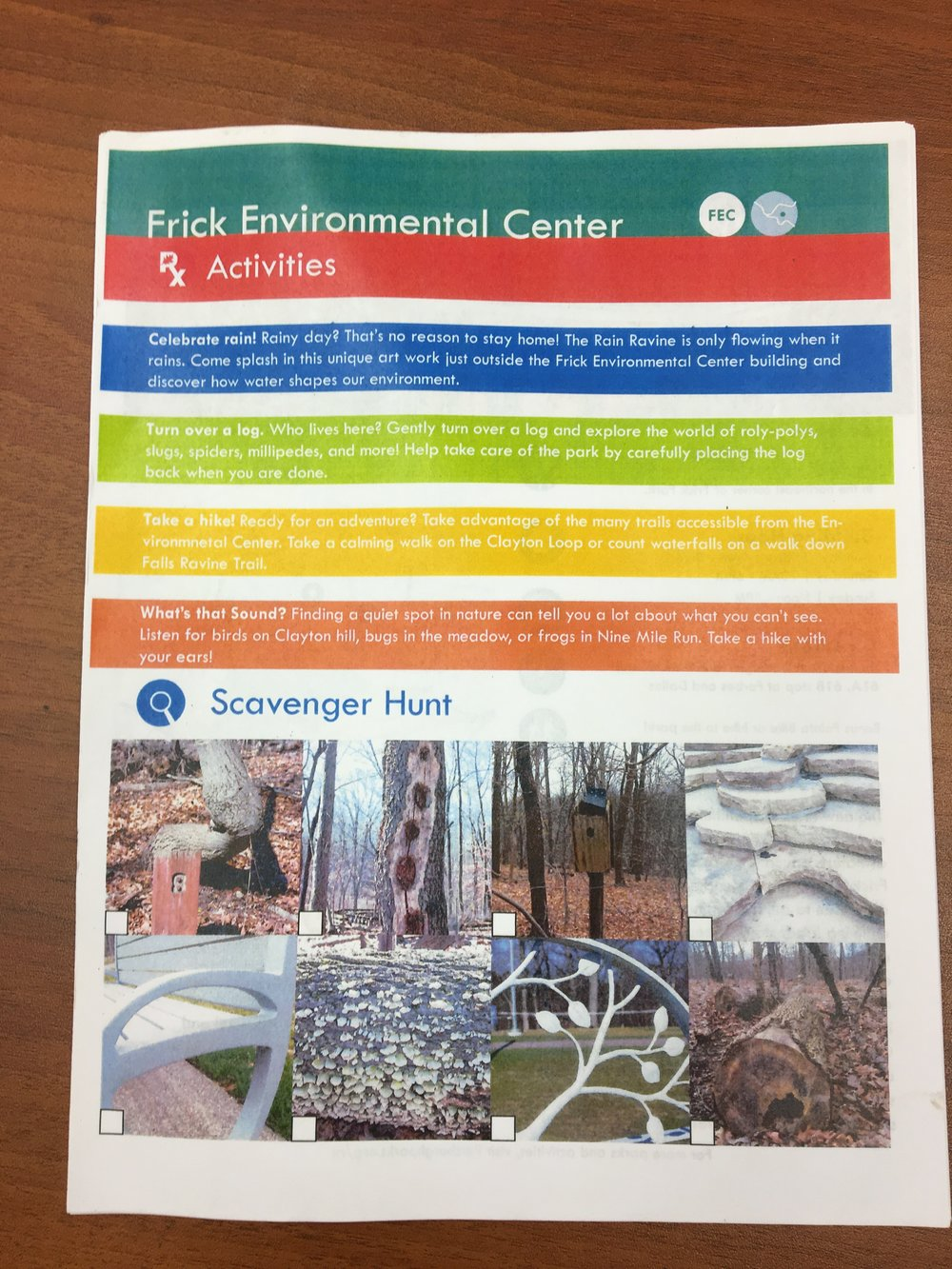 Pittsburgh Parks Conservancy Frick Environmental Center Parks Rx Literature