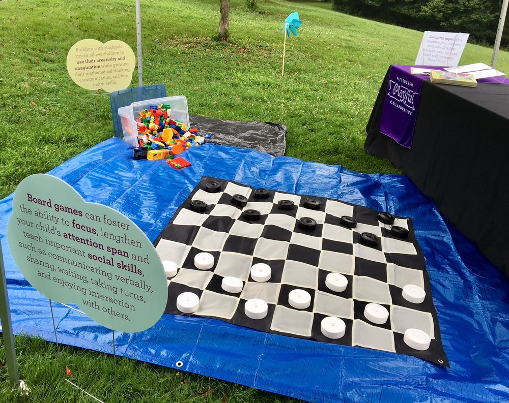 Playful Pittsburgh Collaborative Giant Checkers