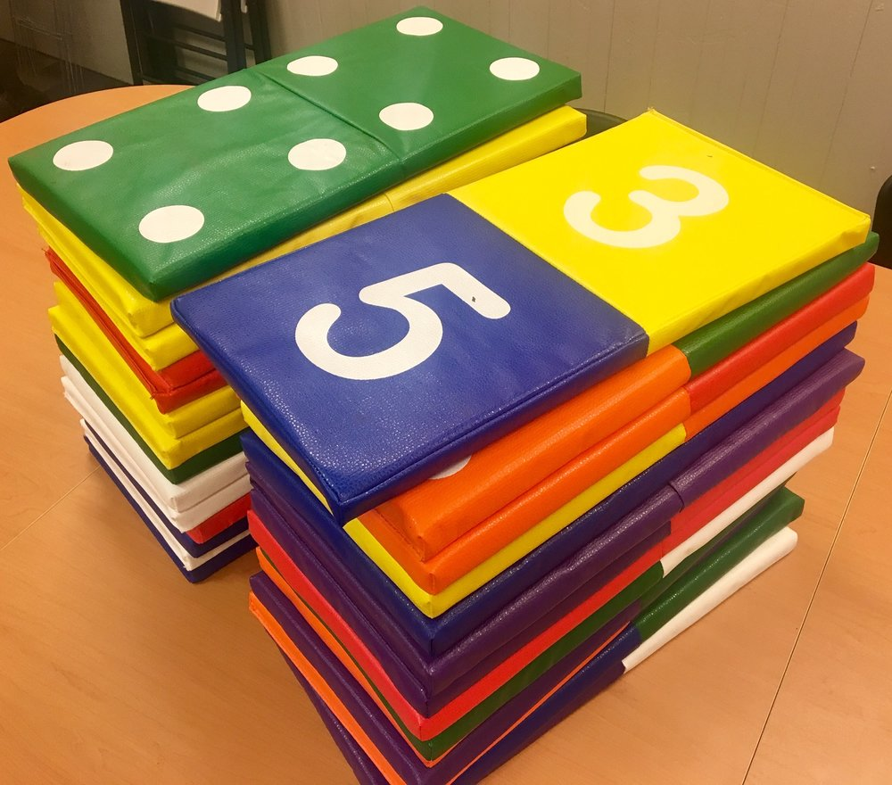 Playful Pittsburgh Collaborative Giant Math Dominoes