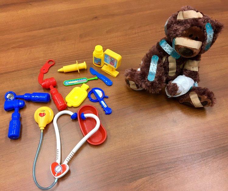 Kids Plus Pediatrics Teddy Bear and Doctor Play