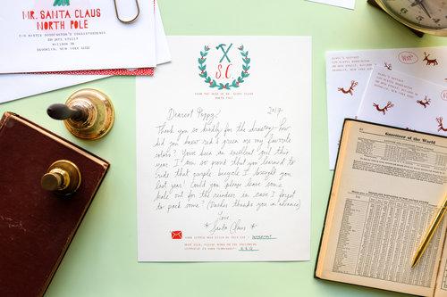 Handwritten Letter from Santa  Mr Boddingtons Studio