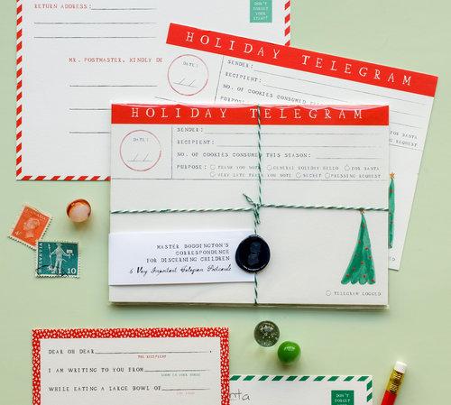 Holiday telegram postcards set of six mr boddingtons studio holiday telegram postcards set of six spiritdancerdesigns Images