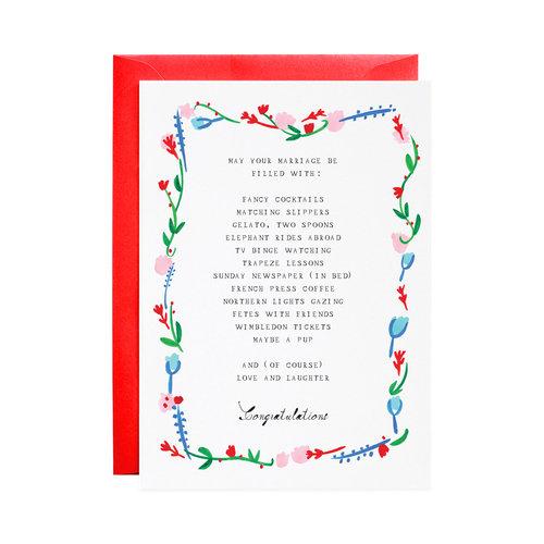 Marriage wish list greeting card mr boddingtons studio marriage wish list greeting card m4hsunfo